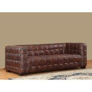 Lazzaro Nautical Leather Sofa in Coco Brampton