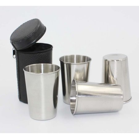 4pcs Stainless Steel Beer Pint Cup Set Camping Cup for Outdoor and Everyday Use Tumbler Mug 70ml - Starbucks Halloween Mugs For Sale