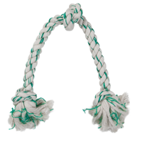 Petmate Fresh 'N Floss Spearmint 3 Knot Tug Dog Rope Toy, X Large