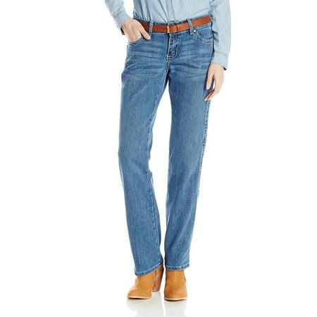 Wrangler Women's Premium Patch Mae Sits Above Hip Jean, Light Blue, 3x34