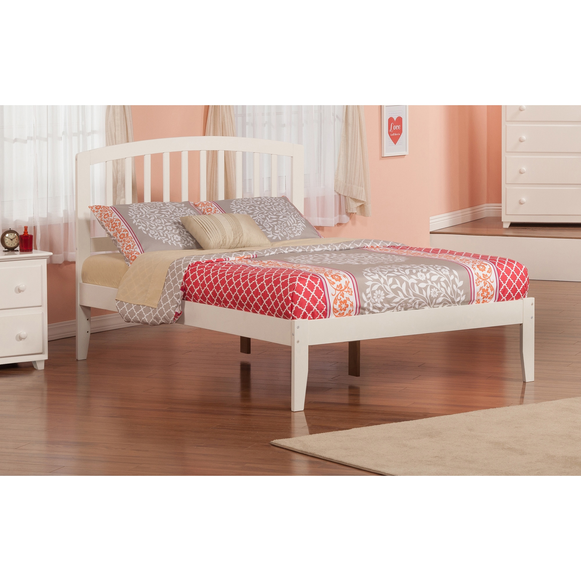 Atlantic Furniture Richmond White Full-size Open Foot Bed