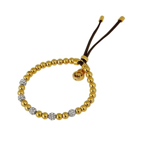 Michael Kors Brilliance Golden Bead Stretch Bracelet Mkj1971710