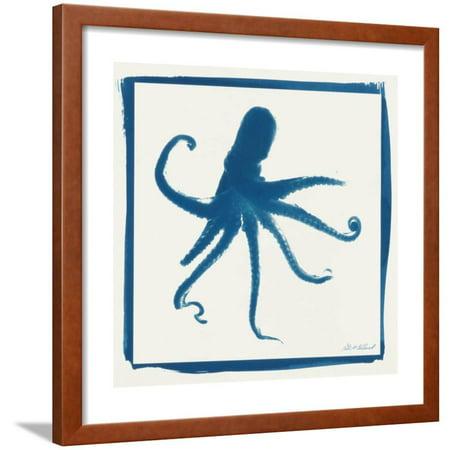 Cyan Octopus Framed Print Wall Art By Christine