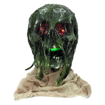 Light Up Rotten Skull With Base Halloween - Mlp Halloween Base