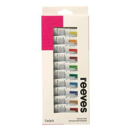 Reeves Gouache Color Set, 12-Colors
