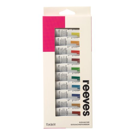 Reeves Gouache Color 12 x 10ml Tube Set