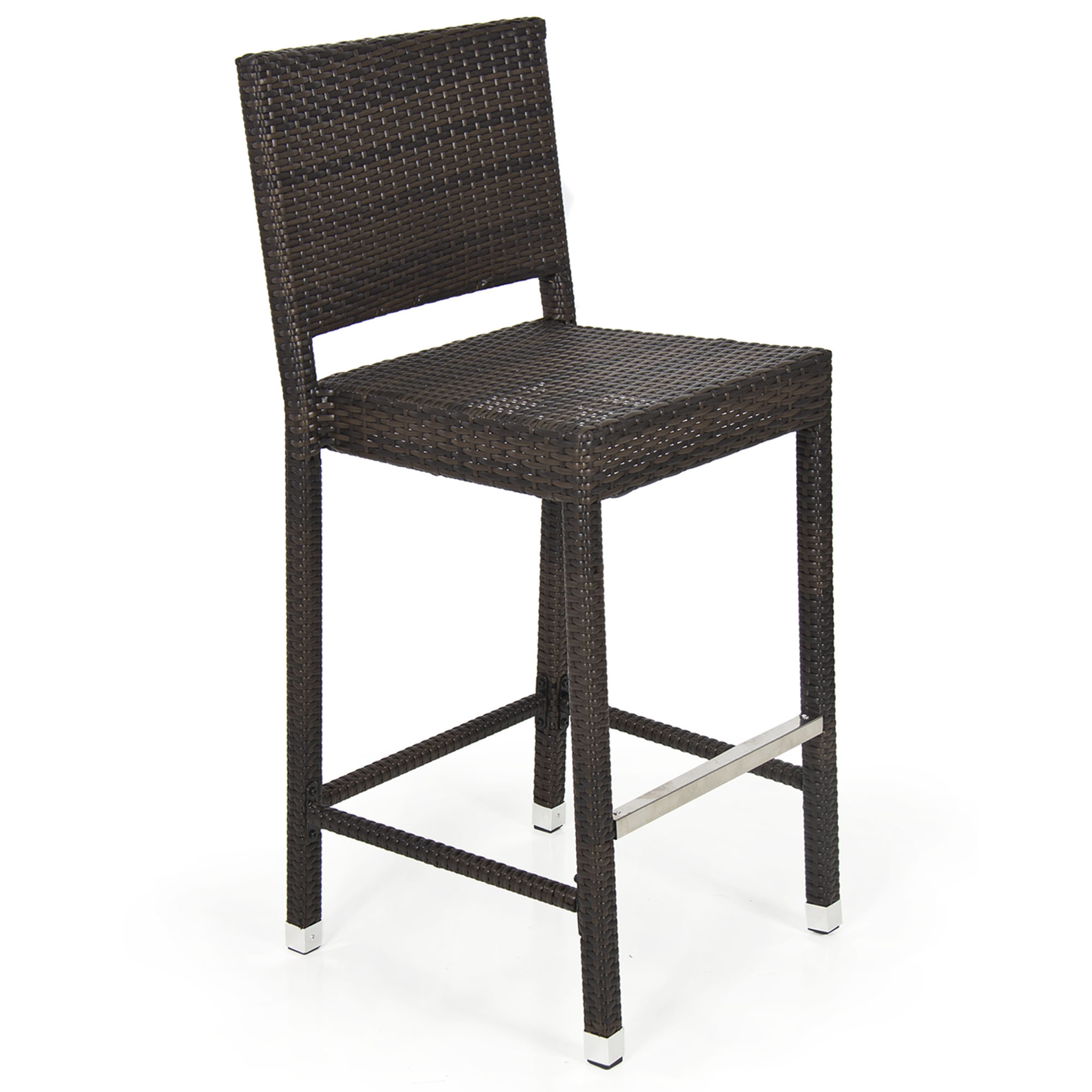 Outdoor Wicker Barstool All Weather Brown Patio Furniture New Bar