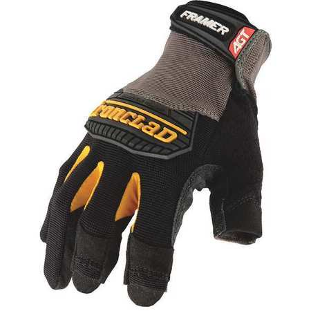 IRONCLAD FUG2-02-S Mechanics Gloves,Framing,S,Black,PR (Black Mechanics Style Gloves)