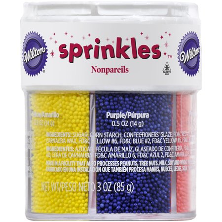 Wilton Nonpareils 6-Mix Sprinkle Assortment](Purple Sprinkles)