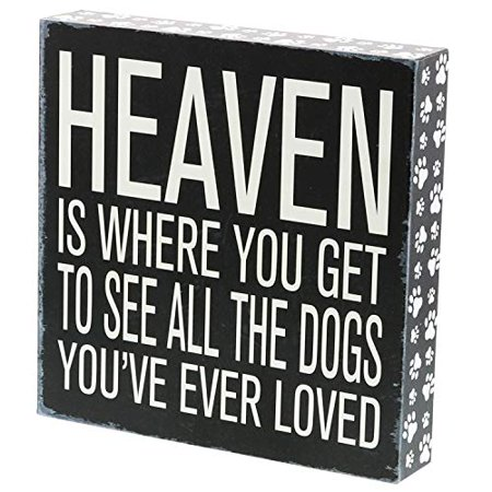 Vintage Ale - Barnyard Designs Heaven is Where You Get to See All The Dogs You've Ever Loved Box Sign Vintage Primitive Pet Home Decor Sign 8