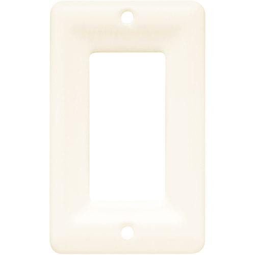 Brainerd Ceramic Single Decorator Wall Plate, Bisque