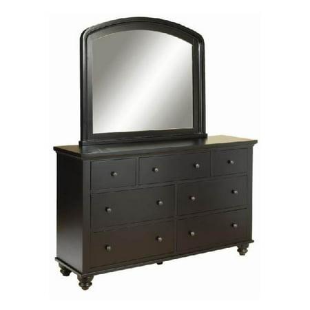 cambridge 7 drawer double dresser mirror black. Black Bedroom Furniture Sets. Home Design Ideas