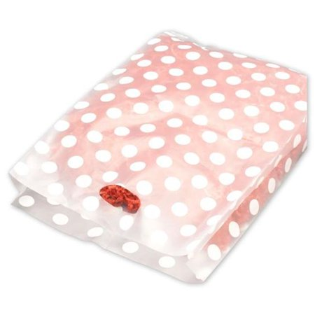 Bags & Bows by Deluxe 55-14321-DOT9 White Dots Frosted High Density Merchandise Bags - Case of 500