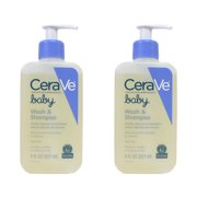 2 Pack CeraVe Baby Wash & Shampoo with Essential Ceramides & Vitamins 8 oz each