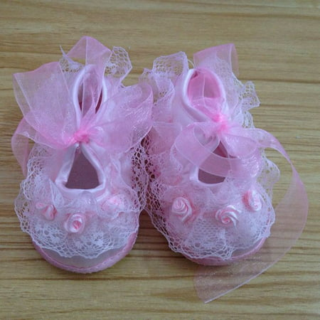 Kacakid Newborn Baby Girls Lace Flowers Cotton Princess Anti-skip Sole Shoes Sneakers