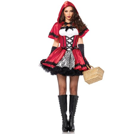 Sexy Gothic Red Riding Hood Costume for