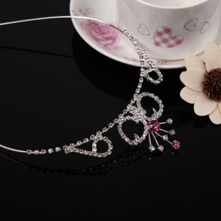 Cute Lively Baby Girls Crown Princess Hair Ribbon Hardback Pretty Bridal Hair Clasp - image 2 of 5