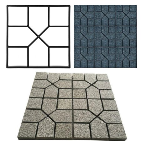 TMISHION, Paving Pavement Concrete Mould Stepping Stone Mold Garden Lawn Path Paver ()