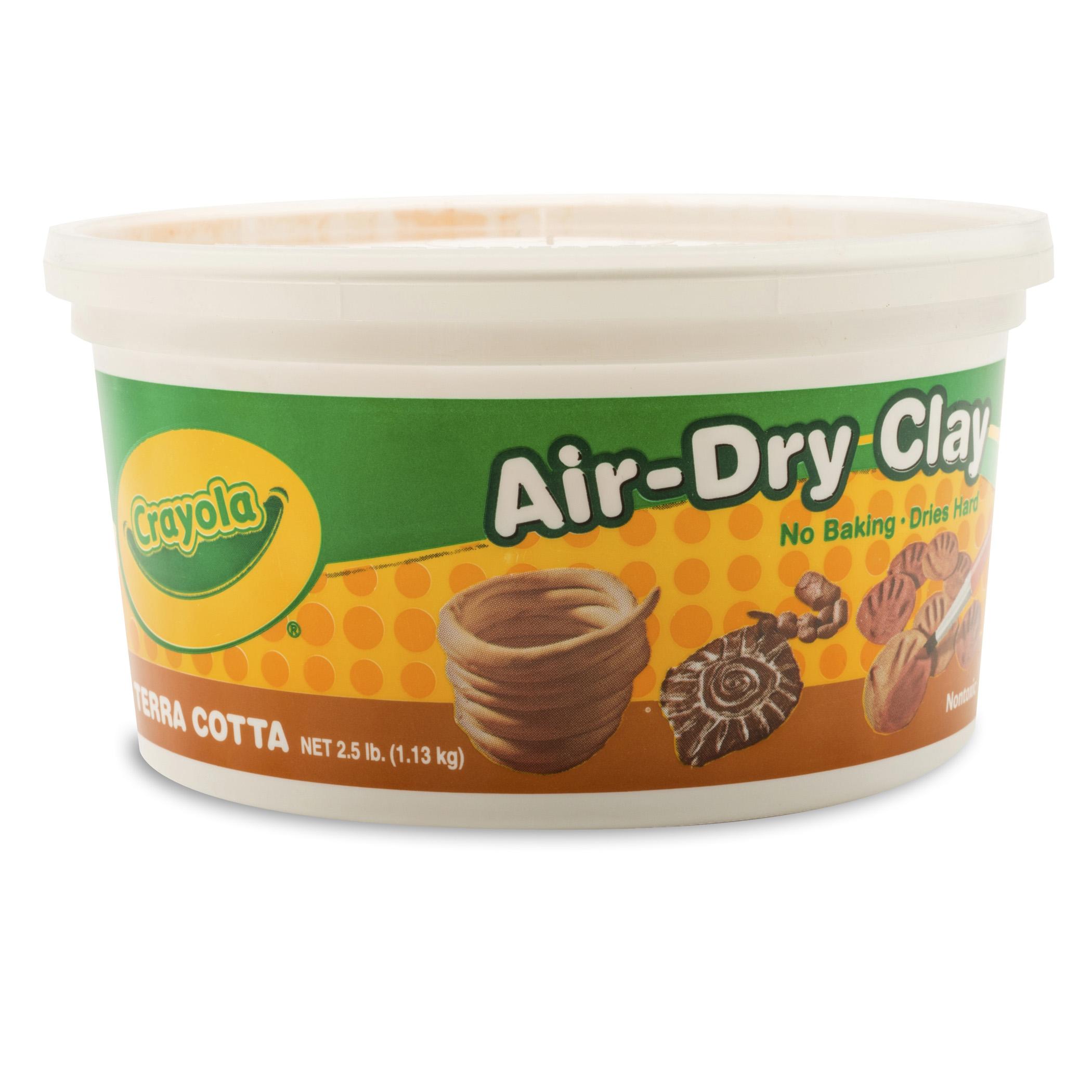Crayola Air-Dry Clay, Terra Cotta, 25 Lb Per Pack, 4 Packs