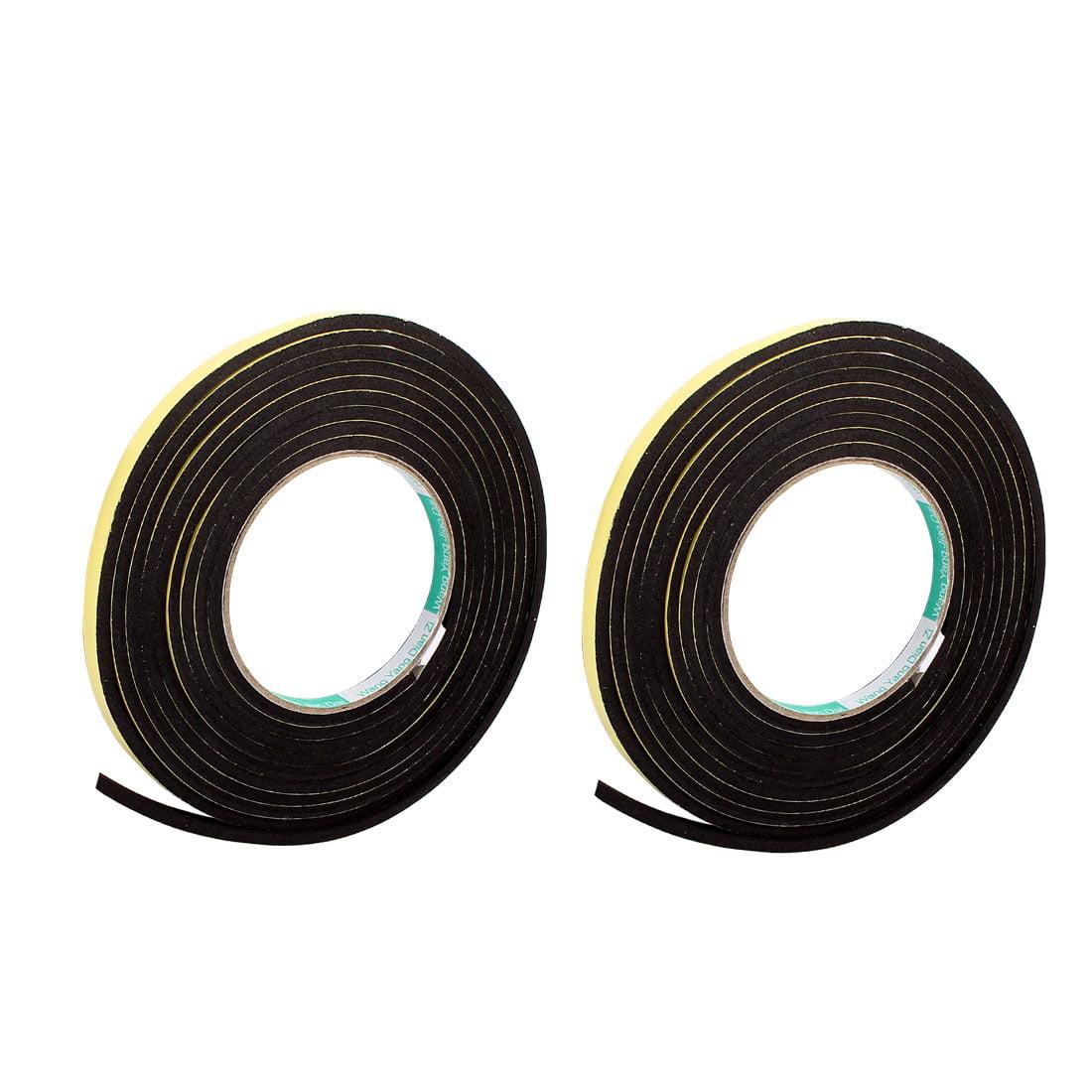 2Pcs 5MM Width 3.5M Length 3MM Thick Single Sided Sealing Shockproof Sponge Tape