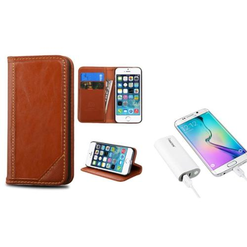 Insten Flip Leather Wallet Fabric Case with Card slot For...