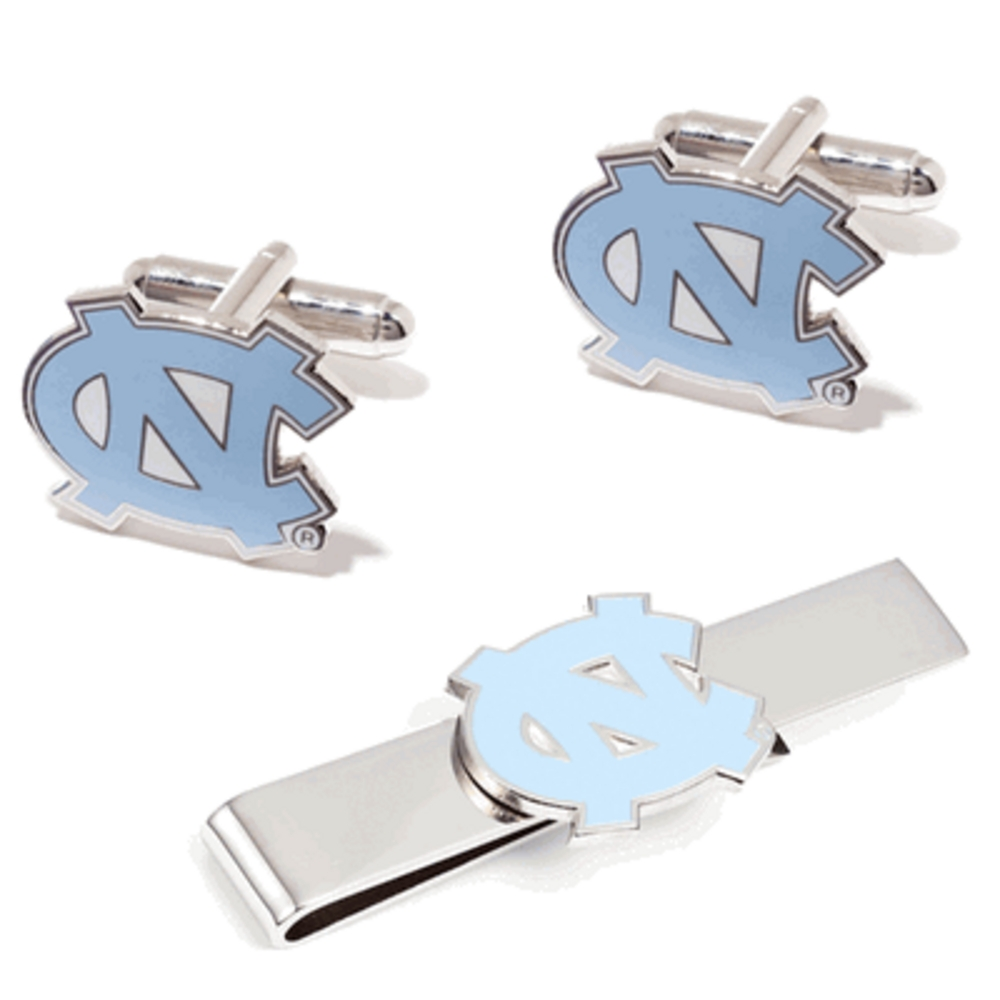 University of North Carolina Tarheels Cufflinks and Tie Bar Gift Set
