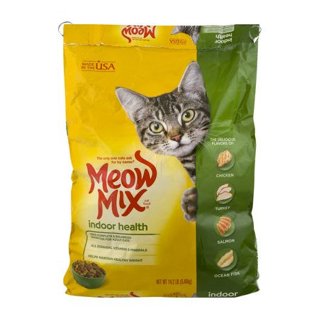 Meow Mix Dry Cat Food Indoor Health, 14.2 LB