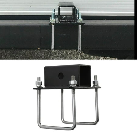RV Bumper Receiver Adapter Black Powder Coated Steel