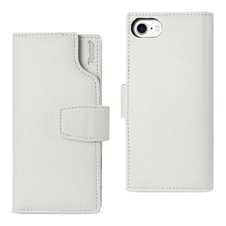 new style cdf82 74556 Reiko REIKO IPHONE 7 GENUINE LEATHER WALLET CASE WITH OPEN THUMB CUT IN  IVORY