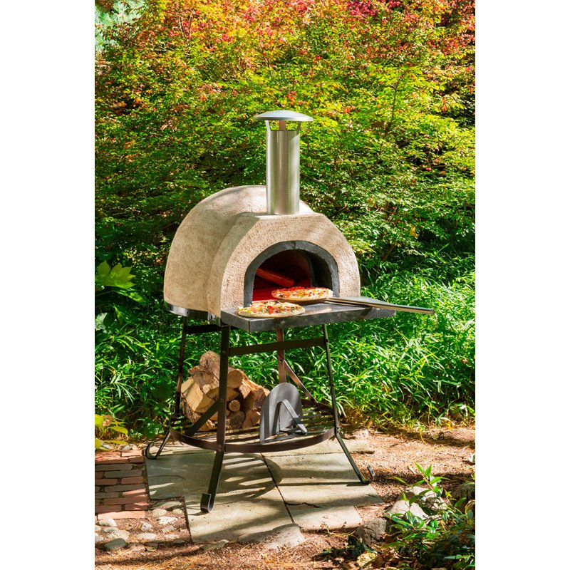 Rustic Natural Cedar Wood Fired Oven - Plain