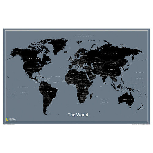 National Geographic Maps World Modern Map