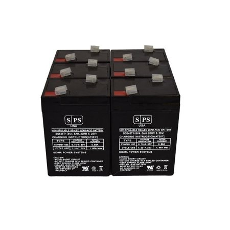SPS Brand 6V 4.5 Ah Emergency Lights Replacement Battery for Emergi-Lite BSMX14R (6