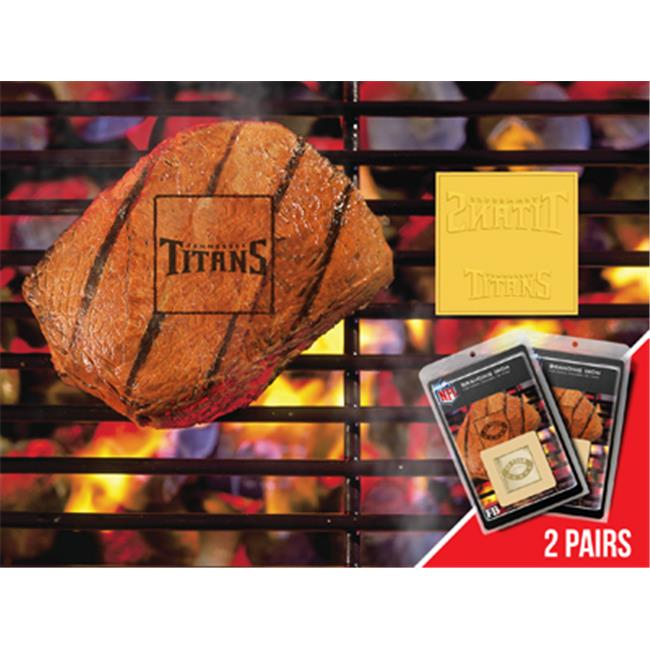 Fanmats 13180 NFL - Tennessee Titans Fanbrand 2 Pack 2 inch x 2 inch