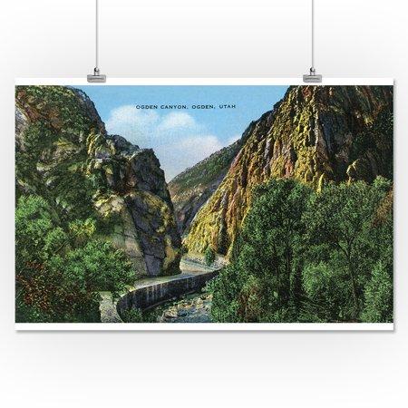 Ogden Utah View Of Ogden Canyon 16x24 Giclee Gallery