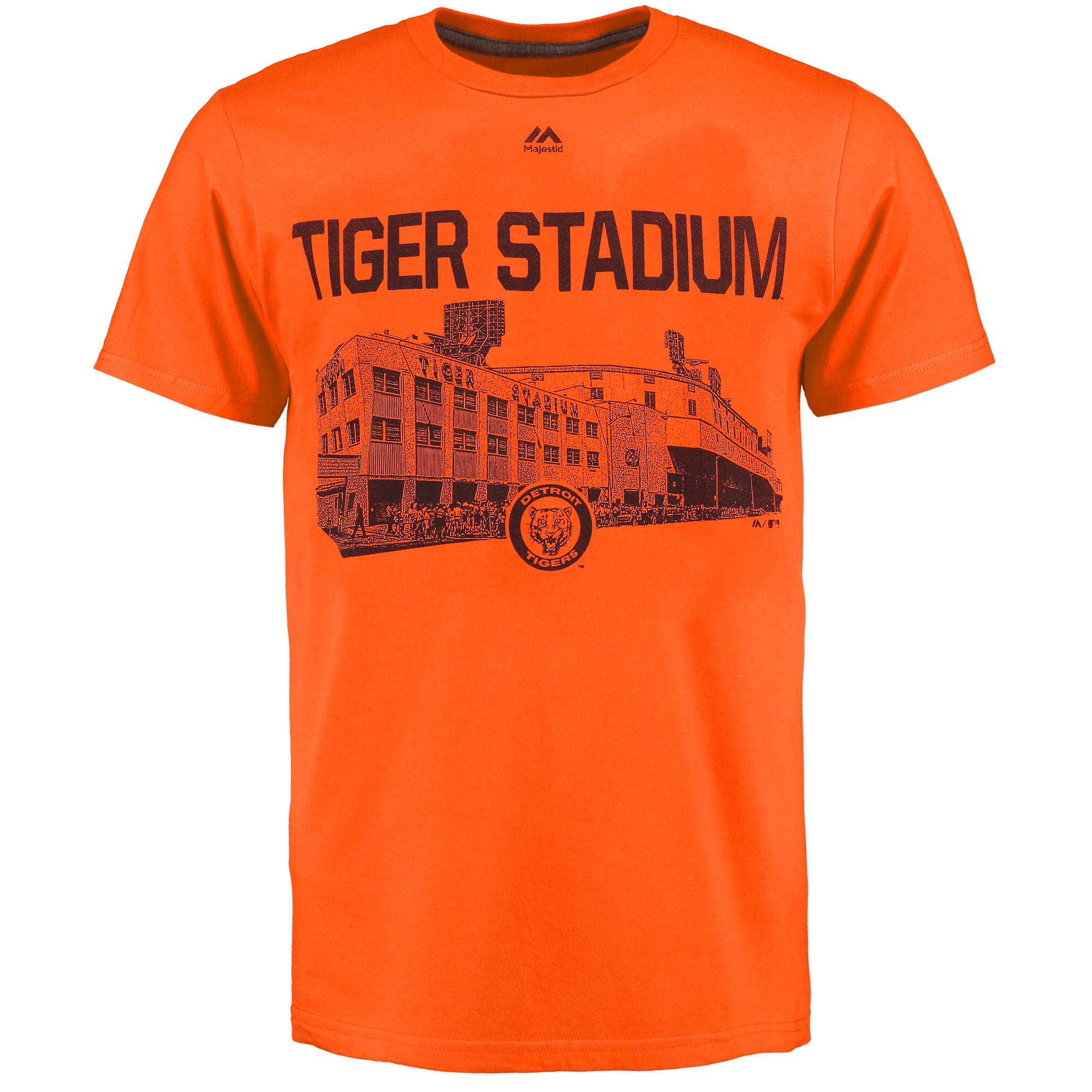 Detroit Tigers Majestic Primetime Comeback Cooperstown T-Shirt - Orange