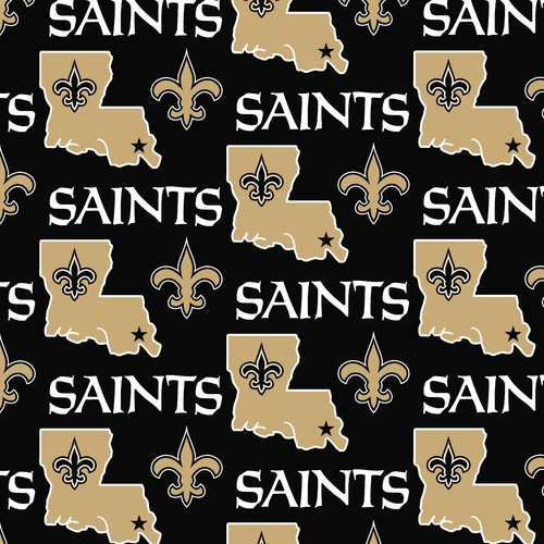 NFL New Orleans Saints Fleece Fabric