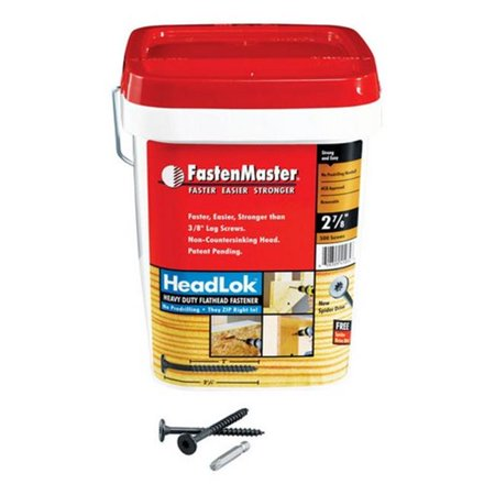 Fastenmaster FMHLGM278-500 10 x 2.87 in. Wood Screws Bucket  500 (Best Wood Screws For Outdoor Use)