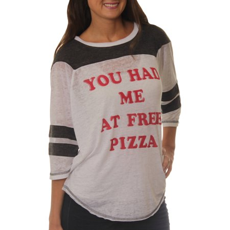 Women's You had me at Free Pizza Graphic Football