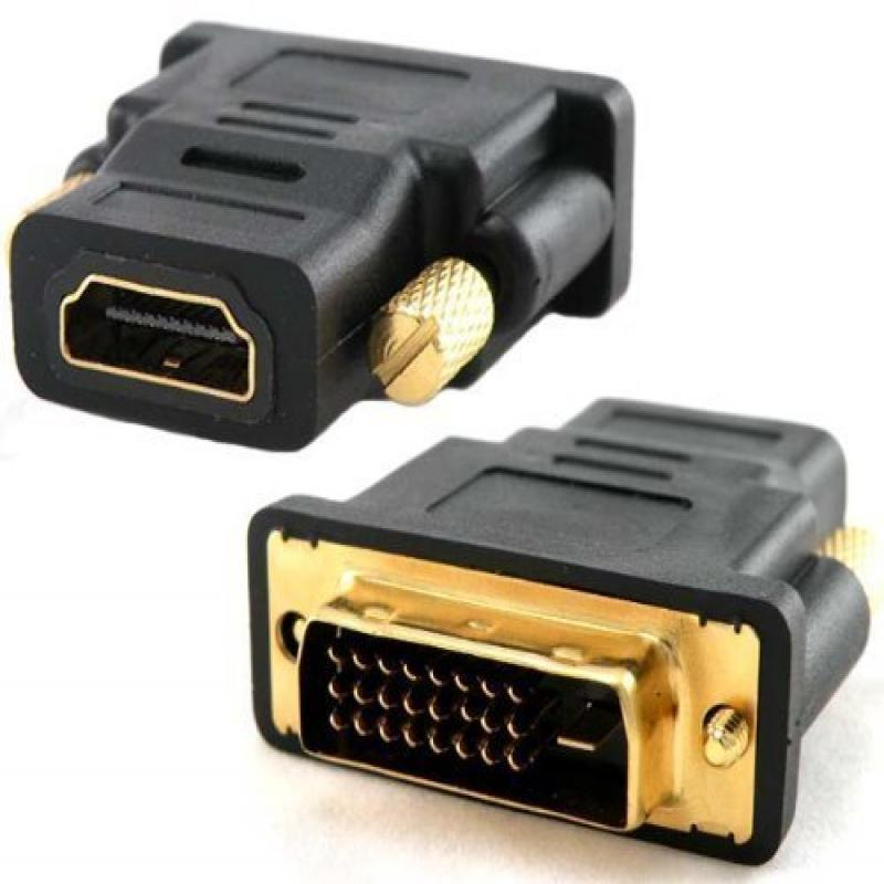 New Gold Plated Hdmi Female to Dvi-d Male Video Adaptor