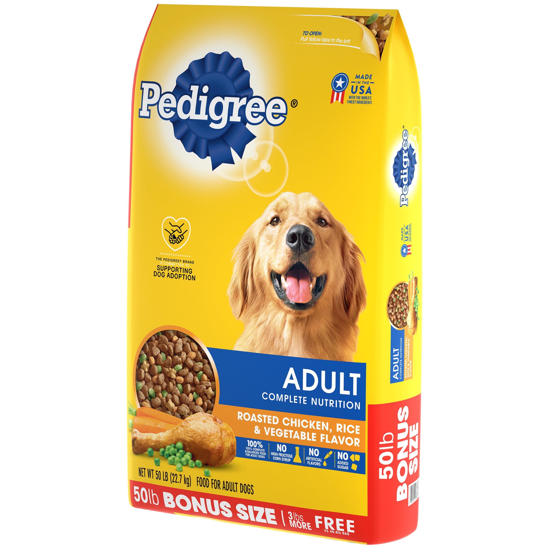 Pedigree Complete Nutrition Adult Dry Dog Food Roasted Chicken Rice Vegetable Flavor 50 Lb Bag Walmart Com Walmart Com