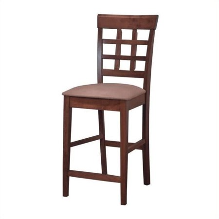 Coaster Company Lattice Back Counter Height Stool, Cappuccino and Tan