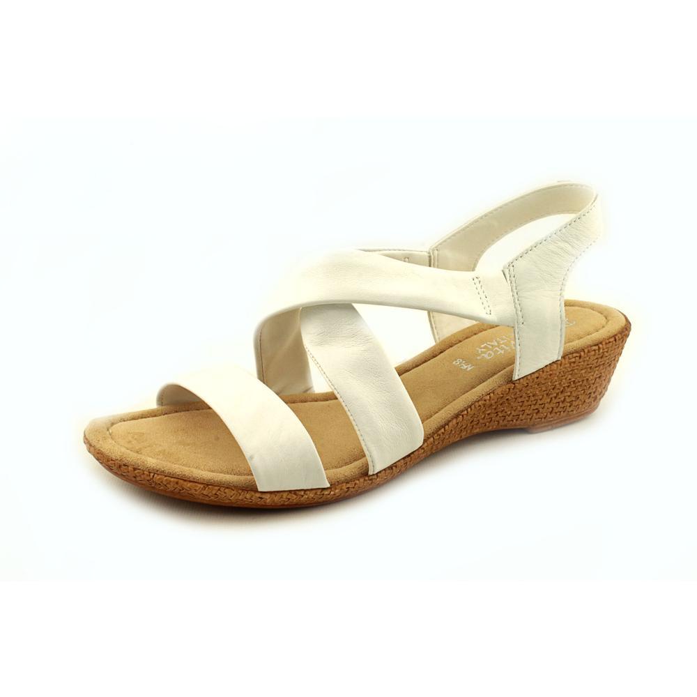 Bella Vita Ciao Open Toe Leather Wedge Sandal by Bella Vita