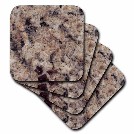 3dRose Napoli Venetian Gold granite print, Soft Coasters, set of 8