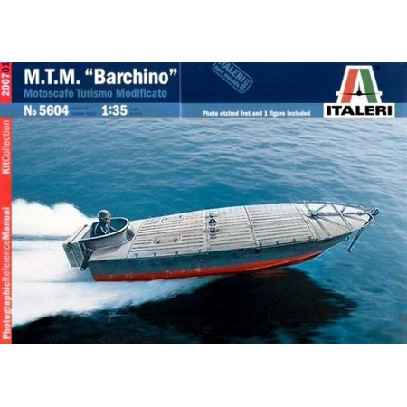 Italeri 1:35 M.T.M Barchino Motoscafo Military Speed Boat Model Kit w/ PE #5604