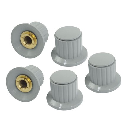Knobs Fits Split Shaft (5pcs Volume Control 6mm Split Shaft Diameter Potentiometer Knobs Gray)