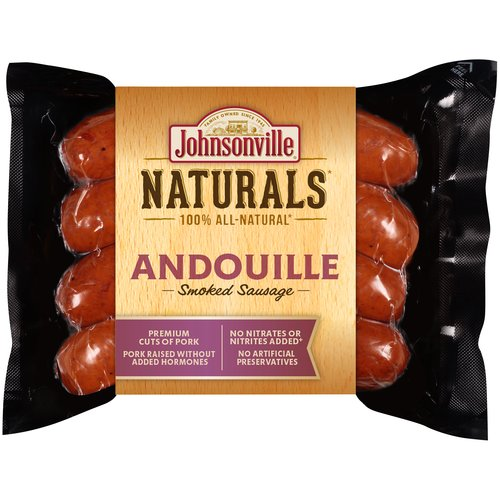 Johnsonville Naturals Andouille Smoked Sausage, 12 oz