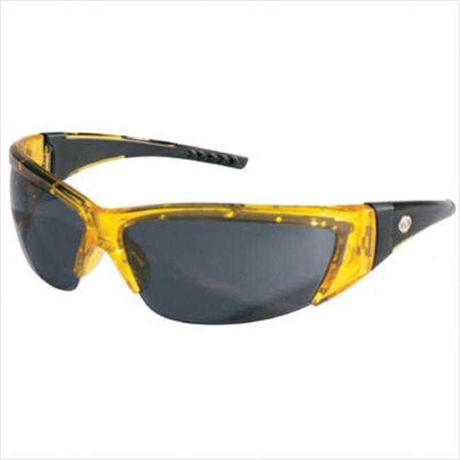 MCR Safety T114R Triwear T1 Hybrid Temple Design Safety Glasses with Steel Frame and Fire Mirror Lens