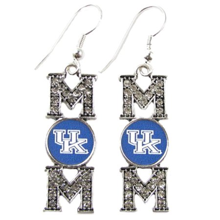 - Kentucky Wildcats Mom Crystal Charm And Blue Charm French Hook Earring Jewelry UK
