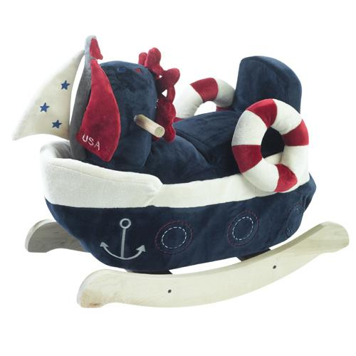 Rockabye 85059 America the Sailboat Play and Rock by Rockabye