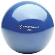 INMOVEMENT IM-WRBALL2-01 Weighted Ball,Blue,Silicone,2 lb. G1585355